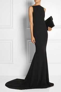 Black crepe Slips on polyester Machine wash or dry clean Gareth Pugh, Gala Dresses, Formal Dresses, Black Bridesmaid Dresses, Black Tie Dresses, Black Tie Dress Code, What To Wear To A Wedding, Costume, Dress Codes