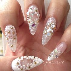 I would only rock nails like this if i was going out somewhere fancy, or to some type of event. these nails just aren't for everyday. they still cute doe :)