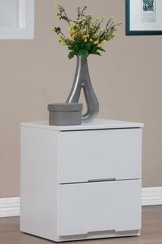 Washington Modern White 2-Drawer Nightstand Bedside Table by Wholesale Interiors on @HauteLook