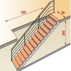 How to calculate for a staircase hopper? Home Stairs Design, Door Design, House Design, Little House Plans, Small House Plans, Staircase Outdoor, Stairs To Heaven, Stair Plan, Framing Construction