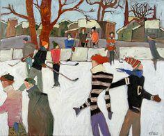 2007 Sunny Winter Day / Claude A. Winter Art, Winter Snow, Hello Winter, Landscape Paintings, Landscapes, Figurative Art, Hockey, Illustration Art, Artsy