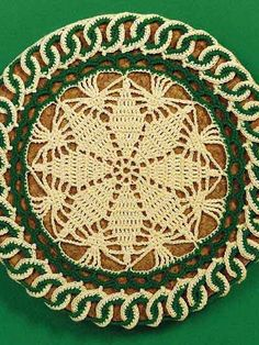 Crochet - For the Home - Kitchen Decor - Irish Snow Crystal Hot Mats - #FC00840