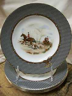 Ralph Lauren Balmoral Hunt china - I'd be happy with just one of these plates! (and I'd display it in the living room)