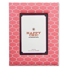Katie Fabric Picture Frame Happy Chic by Jonathan Adler