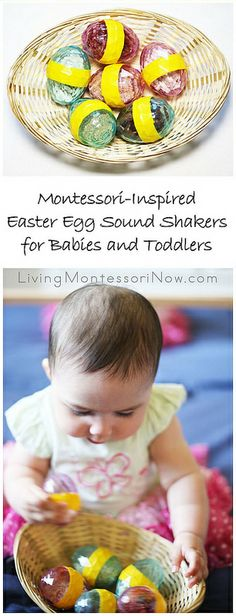 """"" Montessori-Inspired Easter Egg Sound Shakers for Babies and Toddlers """" An inexpensive DIY variation of Montessori sound cylinders for babies and toddlers (Easter egg sound shakers) """" Montessori Toddler, Montessori Activities, Easter Activities, Spring Activities, Infant Activities, Activities For Kids, Music Activities, Eggs For Baby, Easter For Babies"
