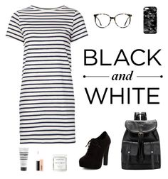 """Black and White- Collab with @rosam10150"" by holiness-is-thenewhot ❤ liked on Polyvore featuring Ace, New Look, M.i.h Jeans, Herbivore, Pirette, MAC Cosmetics, Mr. Gugu & Miss Go, stripes, dress and blackandwhite"