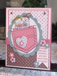 """Eileen's """"Stampin' Fever"""" Blog SU's Pocket Fun - one of my first stamp sets!"""