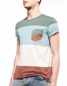 Bershka Spain - Basic striped T-shirt