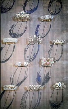Ten new Chaumet marquettes of the two thousand or more tiaras from the last couple of centuries