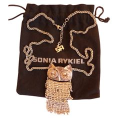 Le hibou en strass SONIA RYKIEL Argenté en Plaqué argent - 150€