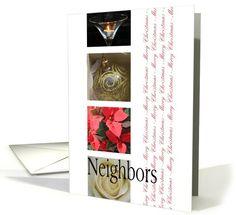 Neighbors Merry Christmas red, black