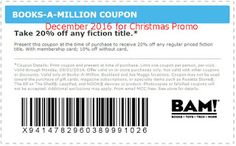 free Books A Million coupons for december 2016