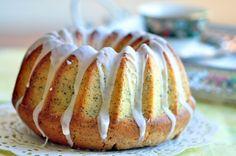 Lemon Poppy Seed Whipped Cream Cake