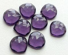 Hydro Quartz Purple Rose Cut Cabochons Hydro by gemsforjewels