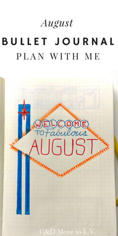 Plan with me in my bullet journal | C&D Move to L.V. | Las Vegas theme