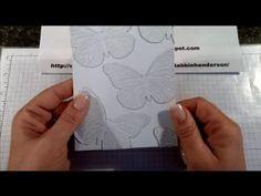 Create your own homemade embossing folder using the Butterfly Thinlits Dies Video. Debbie Henderson, Debbie's Designs.