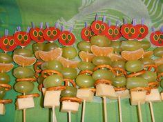 Rupsje-nooit-genoeg voor 3e verjaardag van m'n boefje, met dank aan www.traktatie-maken.nl