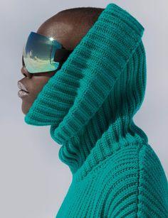 Snow Patrol Publication: Vogue Germany December 2017 Model: Grace Bol Photographer: Hans Feurer Fashion Editor: Claudia Englmann Hair: Sina Velke Make Up: Sina Velke Snow Fashion, Fashion Week, Fashion Brand, Fashion Models, Winter Fashion, Women's Fashion, Catsuit, Aurelie Biderman, Afro