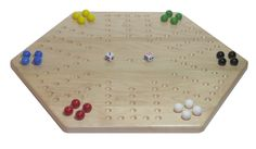 Maple Wooden Aggravation (Wahoo) Game Board – AmishToyBox.com