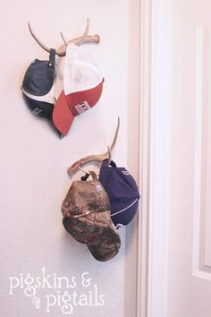 Hat rack diy ideas mud rooms ideas for 2019 Teen Bathroom, Bathroom Towels, Camo Rooms, Mud Rooms, Into The West, Reno, Kids Bedroom, Boys Hunting Bedroom, Fishing Bedroom