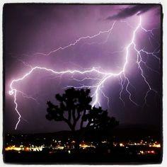 Check out this photo I found on Banjo. Impressive lightning, Rainstorm
