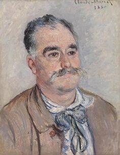 Portrait de monsieur Coqueret père Claude Monet -1880.
