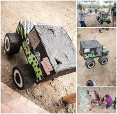Monster Truck Pinata from a Monster Jam Birthday Party via Kara's Party Ideas | KarasPartyIdeas.com (4)