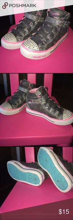 Girls light up twinkle toes hightop sneakers sz 13 Great used condition sketchers light up when you walk size 13 Skechers Shoes Sneakers