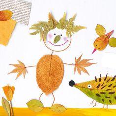 Pia Pedevilla - Kinder - #Kinder #Pedevilla #Pia Autumn Leaves Craft, Autumn Crafts, Fall Crafts For Kids, Autumn Art, Nature Crafts, Kids Crafts, Art For Kids, Diy And Crafts, Arts And Crafts