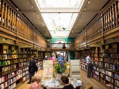 Though Daunt Books has six locations over London, the Marylebone outpost is probably the most famous. An Edwardian bookshop with plenty of events, and of course, some iconic tote bags. - 19 Magical Bookshops Every Book Lover Must Visit I Love Books, Books To Read, Book Cafe, Library Books, About Uk, Book Worms, Book Lovers, Places To Go, Around The Worlds