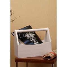 Truhome Eagan Basket Rack White - FabFurnish.com