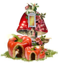 💗 Mushroom House, Mushroom Art, Arabesque, Cute Art Styles, Cute Paintings, Fairy Garden Houses, Colorful Drawings, Baby Prints, Toy Store