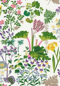 Rabarber Cream wallpaper by Boråstapeter