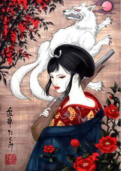 lady eboshi by T-A-K-U-M-I-28 on deviantART
