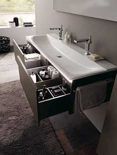 Choose The Latest Modern Sink Collection Of The Highest Quality For Your Home's Main Bathroom is part of Bathroom sink design - Choose The Latest Modern Sink Collection Of The Highest Quality For Your Home's Main Bathroom Floating Bathroom Sink, Bathroom Sink Design, Bathroom Renos, Bathroom Interior Design, Master Bathroom, Bathroom Ideas, Bathroom Cabinets, Modern Bathroom Sink, Double Sinks In Bathroom