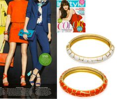 Marlyn Schiff bangles featured in InStyle Magazine April 2013