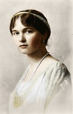 Olga, 1914 : The eldest, she was romantic, melancholy, deeply religious, and oft-described as the smartest of the four sisters. She was easily found deep in her thoughts and loved music, books, art, poetry, and was the only sister who loved schoolwork.