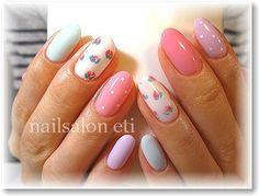 spring nails Cute Nails, Pretty Nails, My Nails, Cute Nail Art Designs, Nail File, Spring Nails, Glitter Nails, You Nailed It, Nail Colors
