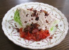 Food for A Hungry Soul: Bacon, Lettuce and Tomato Salad with Thousand Island Dressing