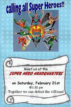 Generic Super Hero Boy Party Ideas