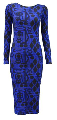 Crazy Girls Womens Celebrity Inspired Animal Trible Tie Dye Print Midi Bodycon Dress (S/M-US6/8, Geometry Print Blue) Crazy Girls, FASHION INSPIRATION if you wish to buy just CLICK on AMAZON right HERE http://www.amazon.com/dp/B00F0PLMMK/ref=cm_sw_r_pi_dp_owqSsb1335ZKSG34