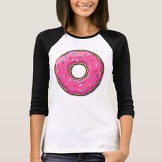 Cartoon Pink Donut With Sprinkles T-Shirt