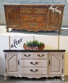 Painted Furniture With Transfers - Furniture Projects Step By Step - Paint Furniture, Plywood Furniture, Furniture Projects, Home Furniture, Cheap Furniture, Gray Bedroom Furniture, Retro Furniture Makeover, Diy Furniture Renovation, Restoring Old Furniture