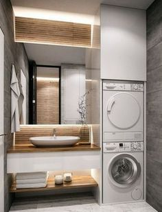 30 modern bathroom design ideas plus tips 62 – diy bathroom ideas Dyi Bathroom Remodel, Diy Bathroom, Laundry In Bathroom, Budget Bathroom, Bathroom Renovations, Bathroom Storage, Bathroom Ideas, Bathroom Organization, Master Bathrooms