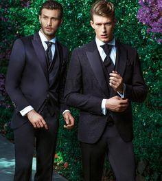 AD 7-17 SX - BA 2205-16-17 DX #sposo #groom #suit #abito #wedding #matrimonio #nozze #nero #black