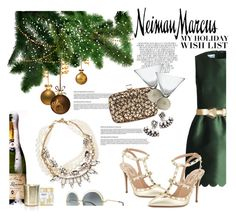 """""""The Holiday Wish List With Neiman Marcus: Contest Entry"""" by lisalockhart ❤ liked on Polyvore featuring Lulu Frost, Whiteley, Valentino, Nest Fragrances, RED Valentino, Neiman Marcus, Roger Vivier, Chloé, DANNIJO and Marni"""