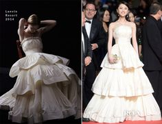 Huiwen Zhang In Lanvin -  'Coming Home' Cannes Film Festival Premiere