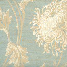 Robin's egg blue chrysanthemum wallpaper