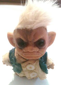 Vintage 1960's Nasty Ugly Troll Doll by kaleidoscopetreasure. Thanks for the great doll Santa, I mean Satan.