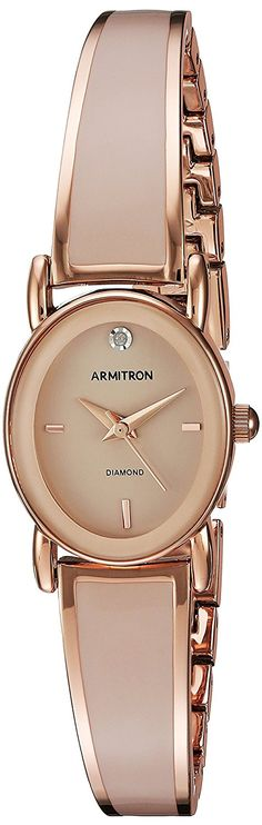 Armitron Women's Quartz Metal and Alloy Dress Watch, Color:Pink (Model: 75/5423BHRG) -- Check out the watch by visiting the link.